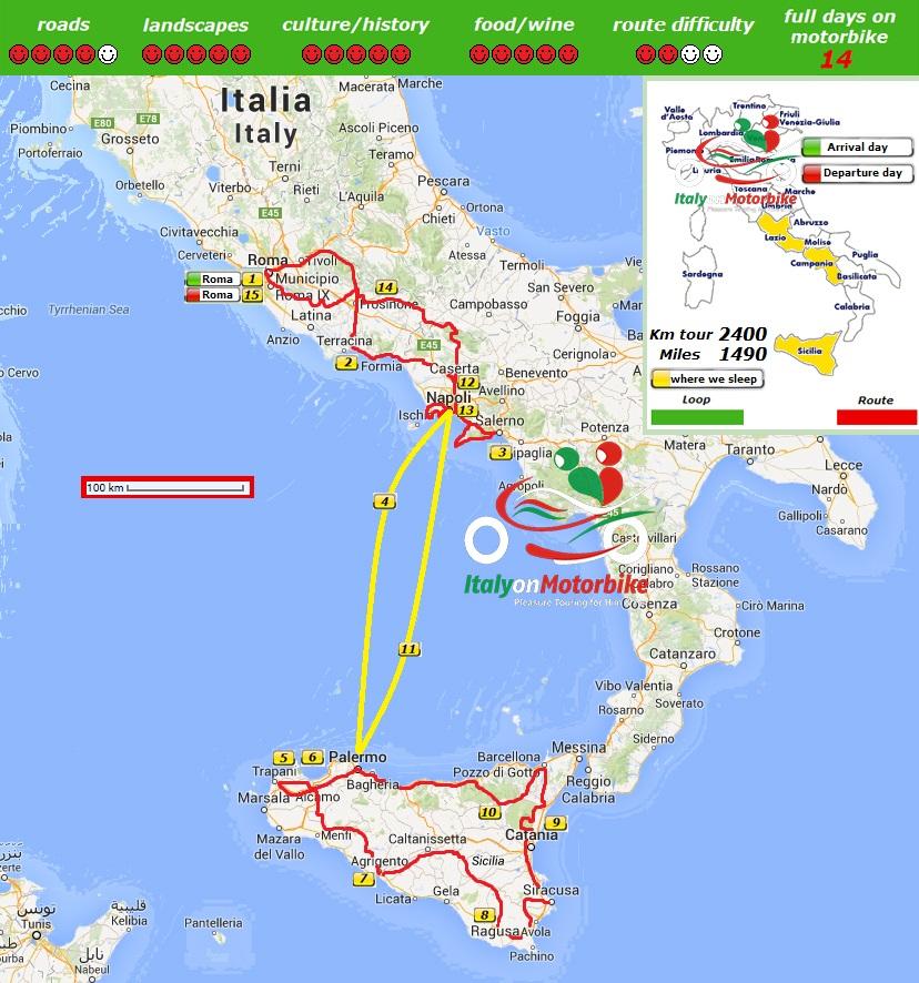 naples amalfi coast tour sicily escorted tours southern italy motorbike touring